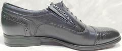 Классические кожаные туфли под костюм мужские Ikoc 3805-4 Ash Blue Leather.
