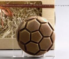 Пластиковая форма для шоколада дет. ФУТБОЛЬНЫЙ МЯЧ (диаметр 75мм)
