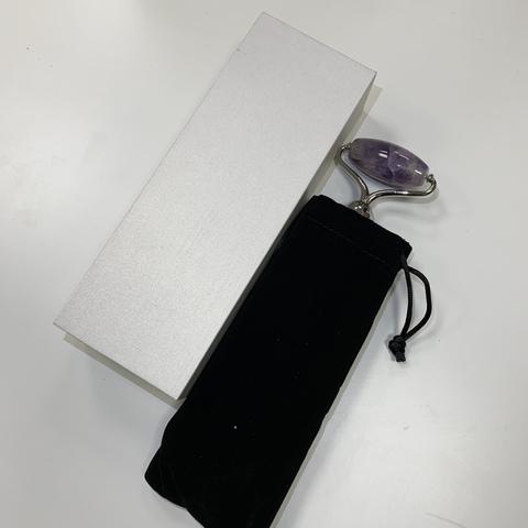 Электрический роллер для лица с функцией вибрации из Авантюрина, 14 см
