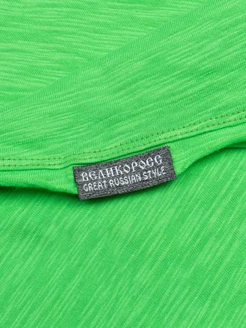 Мужская футболка «Великоросс» травяного цвета круглый ворот