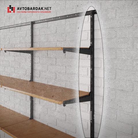 Вертикальная направляющая для модульной системы деревянных полок