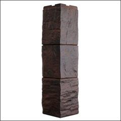 Наружный угол для фасайдинга FineBer Дачный Туф 3D-Facture Темно-коричневый