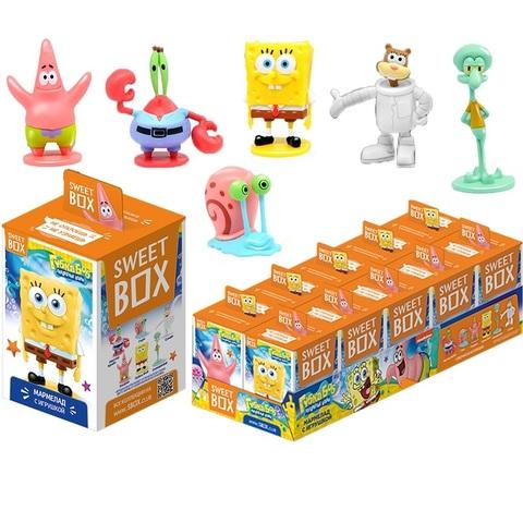 СВИТБОКС SPONGE BOB SQUARE PANTS Мармелад с игрушкой в коробочке  1кор*12бл*10шт, 10г.