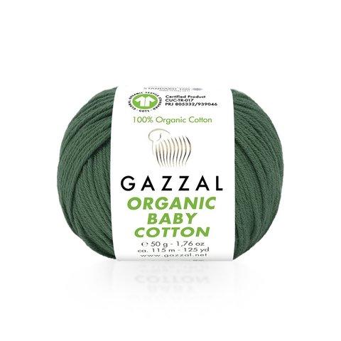 Пряжа Gazzal Organic Baby Cotton 427 темная лазурь