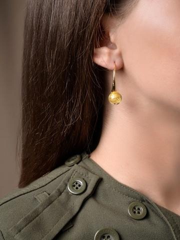 Серьги Ornella Crystal Gold 004O светло-золотые
