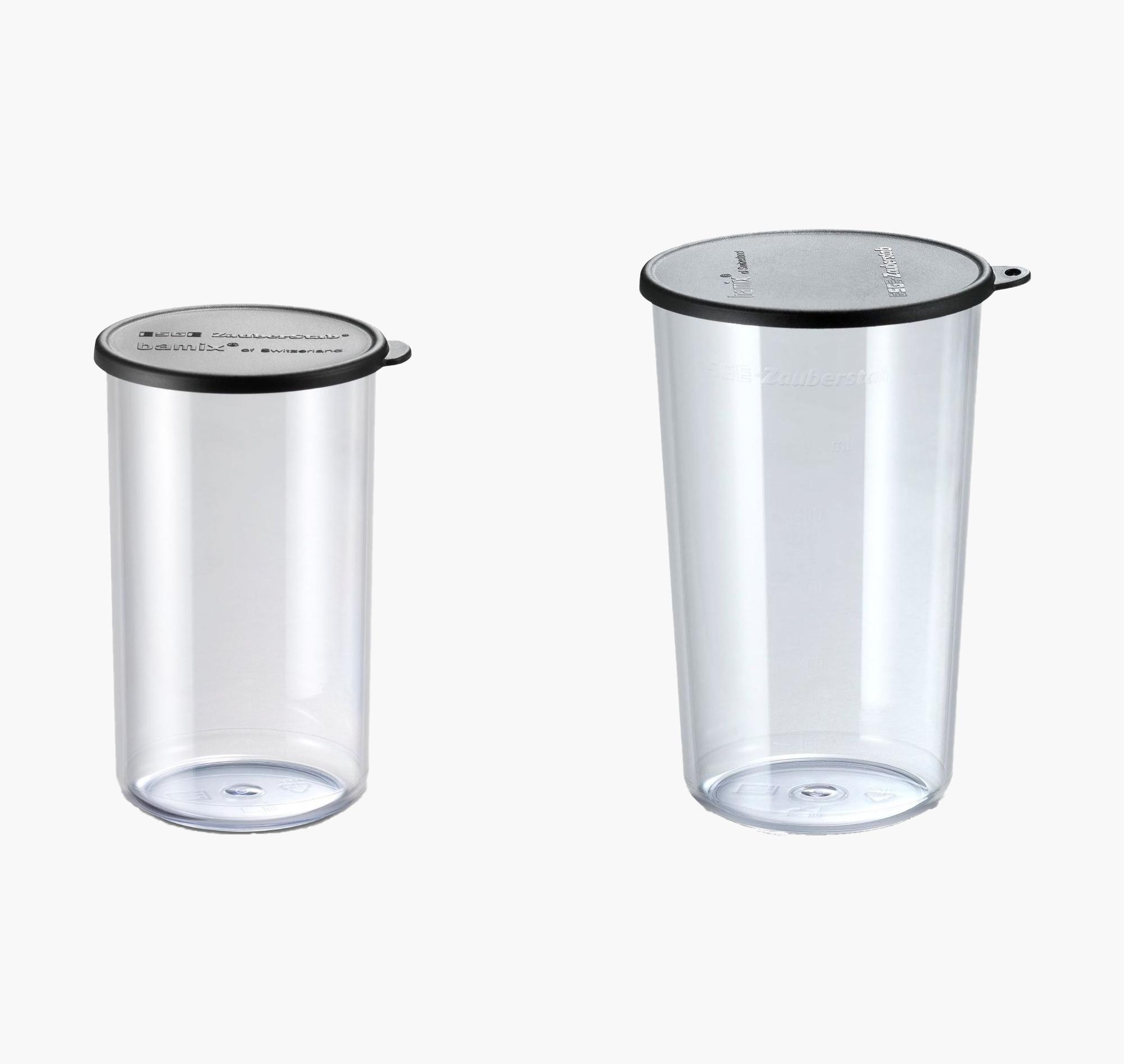 Набор стаканов Bamix 450.019 400мл+600мл с крышками