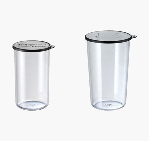 - bamix Набор стаканов Bamix 450.019 400мл+600мл с крышками