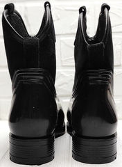 Женские зимние сапожки резиновые Mida 22377-249 Black.