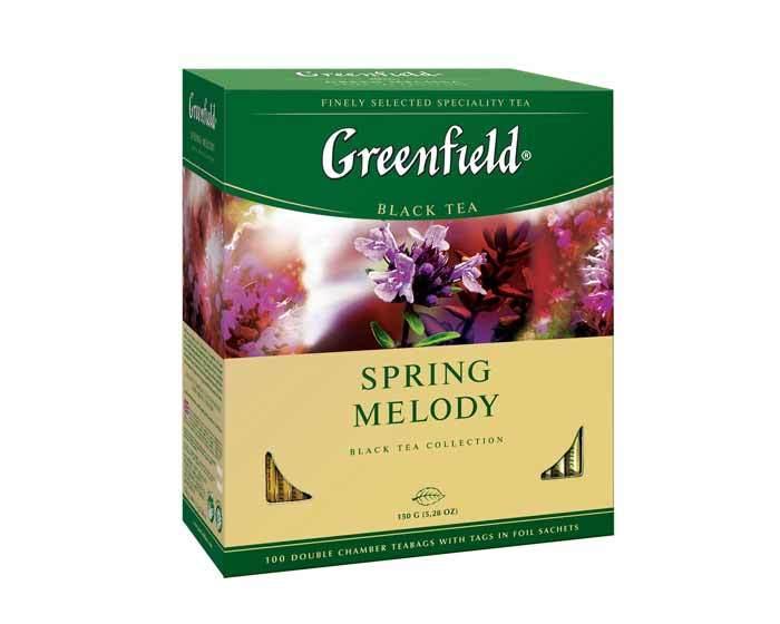 Чай черный в пакетиках Greenfield Spring Melody, 100 пак/уп