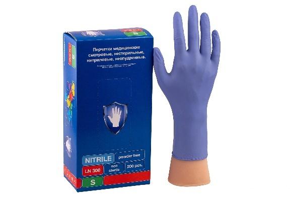 Перчатки Safe&Care Фиолетовые LN 308 (200 шт.)размер S