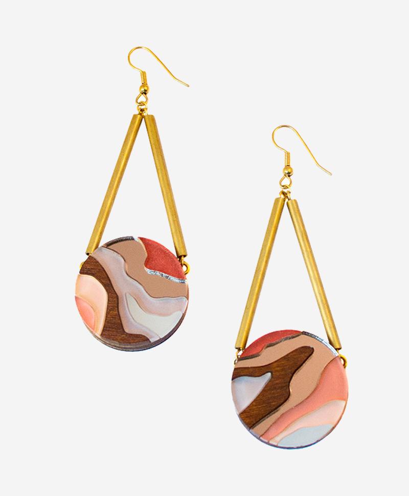 800-969--Серьги-Marble-Circle-Apricot