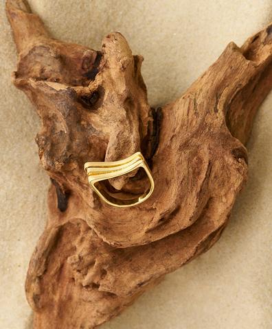 Кольцо Атлас Ривьера из серебра с покрытием золотом