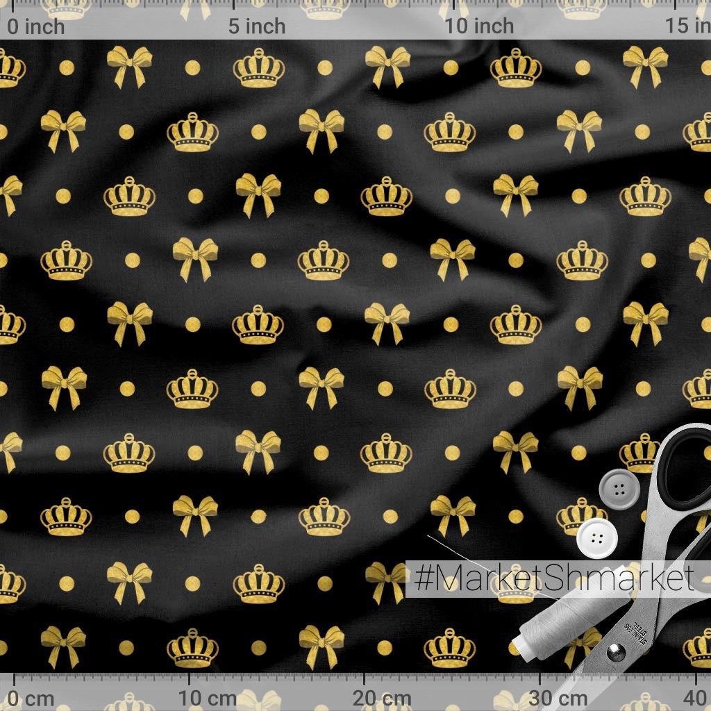 golden print, корона и бантики, золотой принт, золото на черном