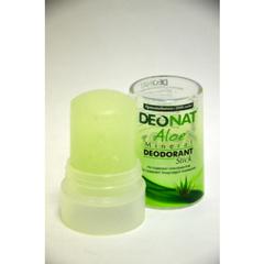 Кристалл ДеоНат 40 гр плавленный с соком АЛОЭ (стик зеленый)