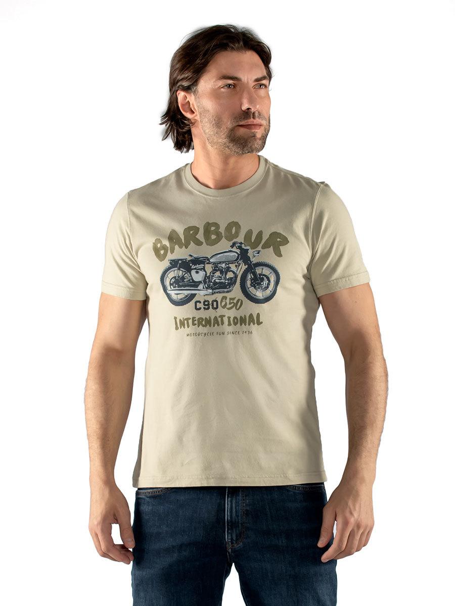 Barbour футболка B.Intl Bike Print Tee MTS0839/ST17