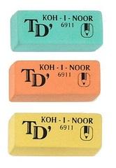 Ластик мягкий TOISON D`OR 6911 49х21х16мм, для карандашей 8В-В