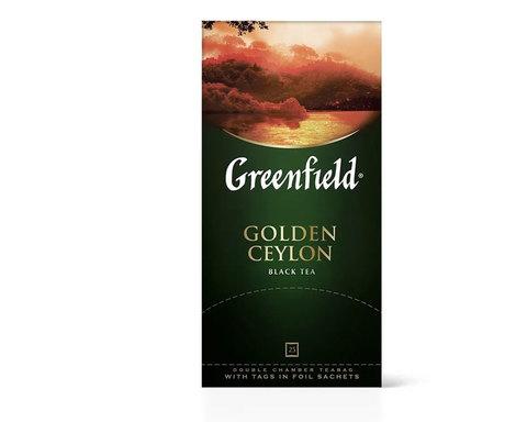 купить Чай черный в пакетиках из фольги Greenfield Golden Ceylon, 25 пак/уп