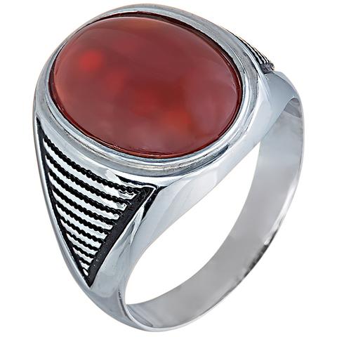 Кольцо с агатом  из серебра 925