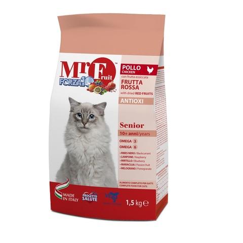 купить Forza10 Mr. Fruit Rosso Senior сухой корм для пожилых кошек с экстрактом красных фруктов