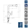 Смеситель для кухни с выдвижной лейкой RS-Q 931902H2 - фото №3