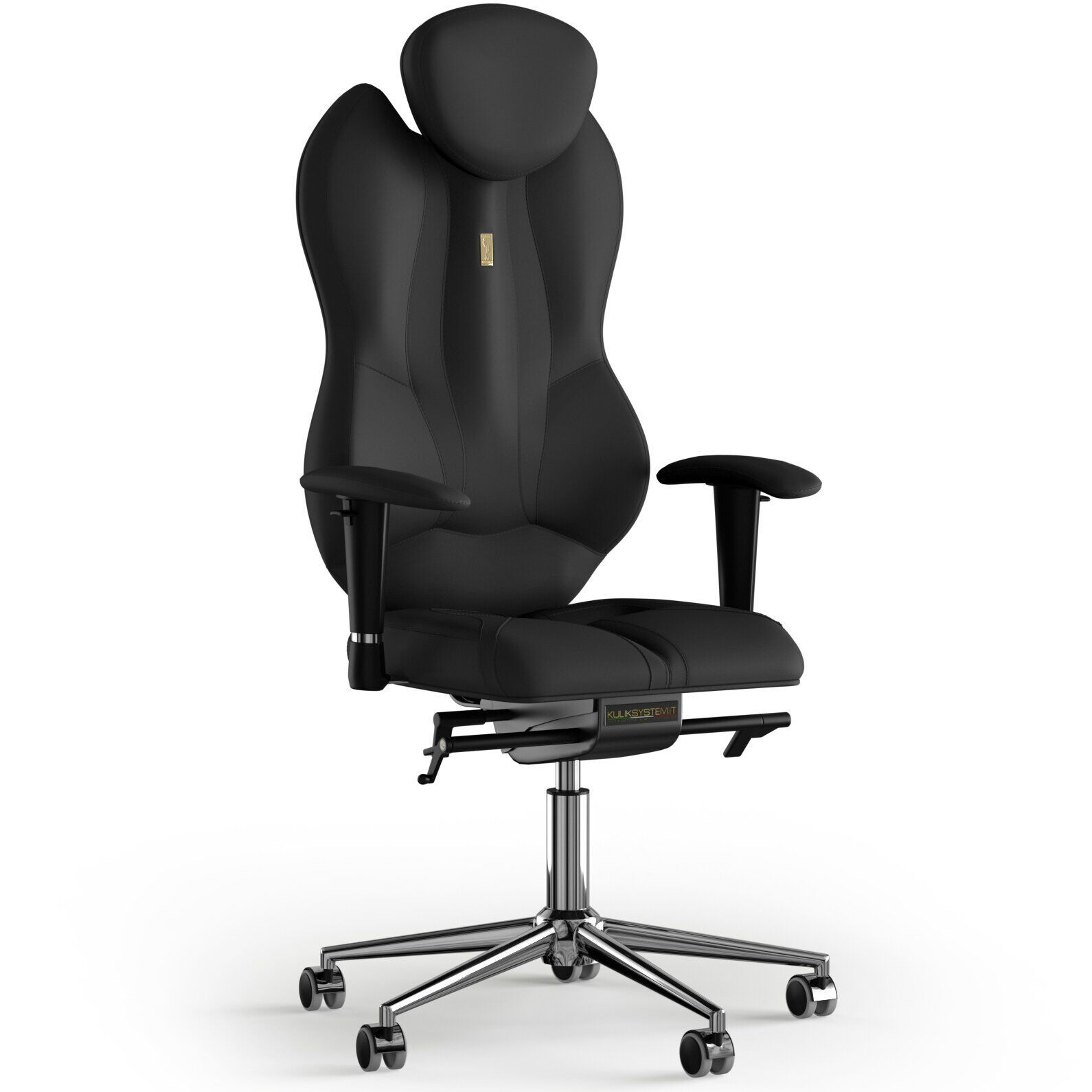 Кресло KULIK SYSTEM GRAND Экокожа с подголовником