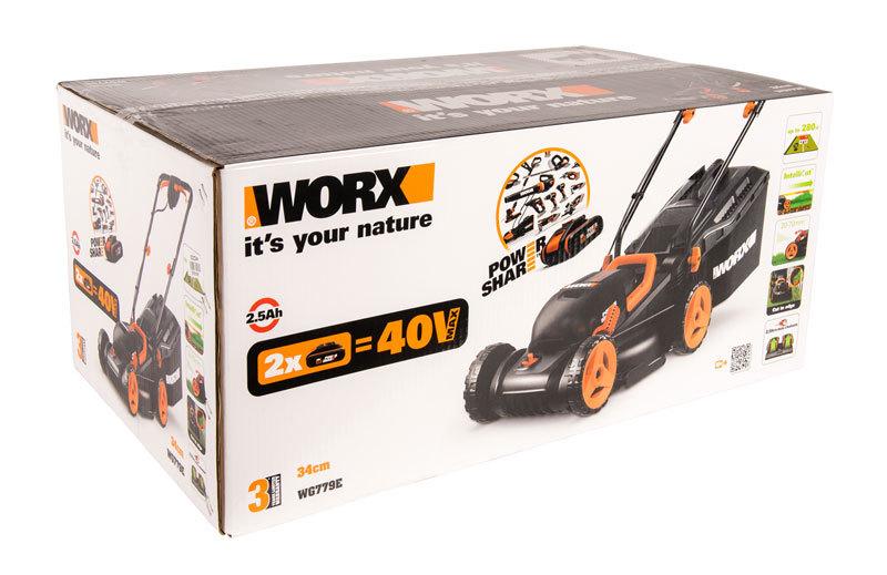Газонокосилка аккумуляторная WORX WG779E.9 40В
