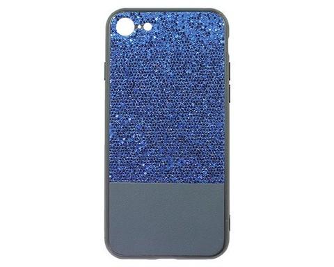 Чехол для iPhone 7/8/SE серия Bling | мерцающий синий