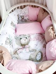 Бортики для кроватки с одеялком «BabyGirl»