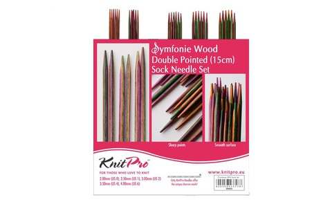 KnitPro Symfonie Набор чулочных спиц 15 см