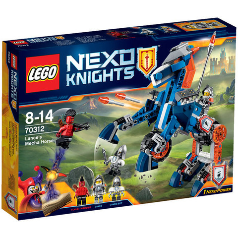LEGO Nexo Knights: Ланс и его механический конь 70312 — Lance's Mecha Horse — Лего Нексо Рыцари
