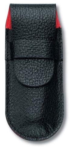 Чехол кожаный Victorinox, черный для ножей 91 мм, толщиной ножа 2 уровня