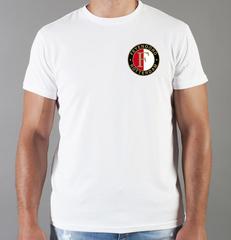 Футболка с принтом FC Feyenoord  (ФК Фейеноорд) белая 004