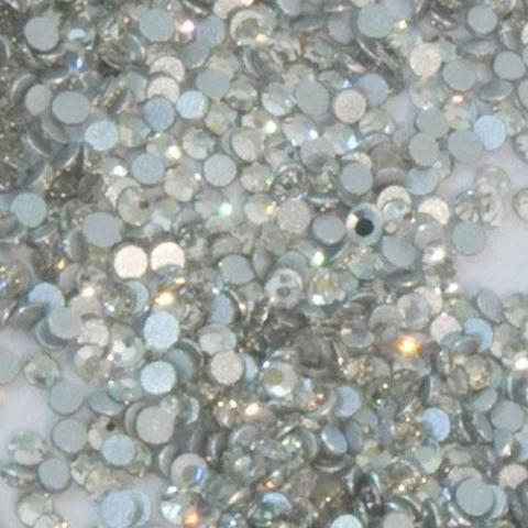 Стразы стекло, ss3-1,5 мм Белые 50 шт