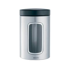 Контейнер для сыпучих продуктов с окном (1,4 л), Стальной матовый (FPP)