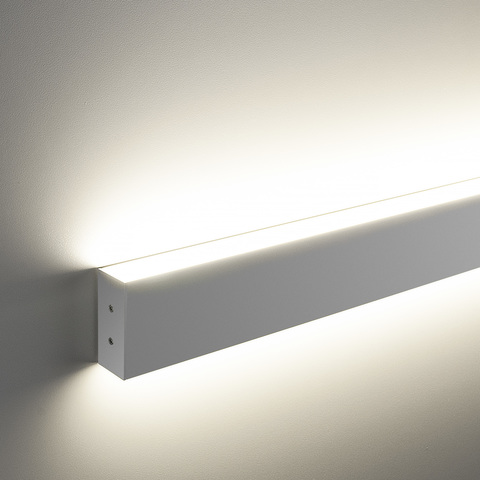 Линейный светодиодный накладной двусторонний светильник 103см 40Вт 6500K матовое серебро 101-100-40-103