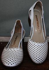 Женские туфли босоножки Evromoda 101-6 White.