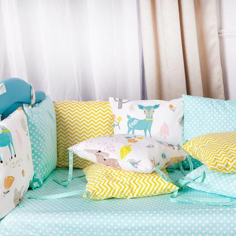 Защита в кроватку от комплекта Модена 12 шт 03-07-01 Для девочек Украина Мятный