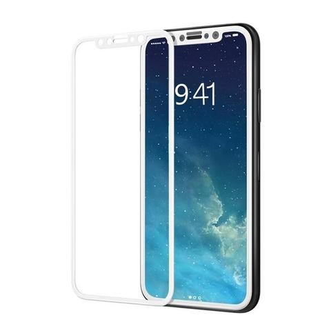 Стекло защитное 5D для IPhone X (Белое)