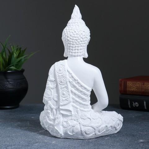 Фигура Белый Будда 16*9*23 см