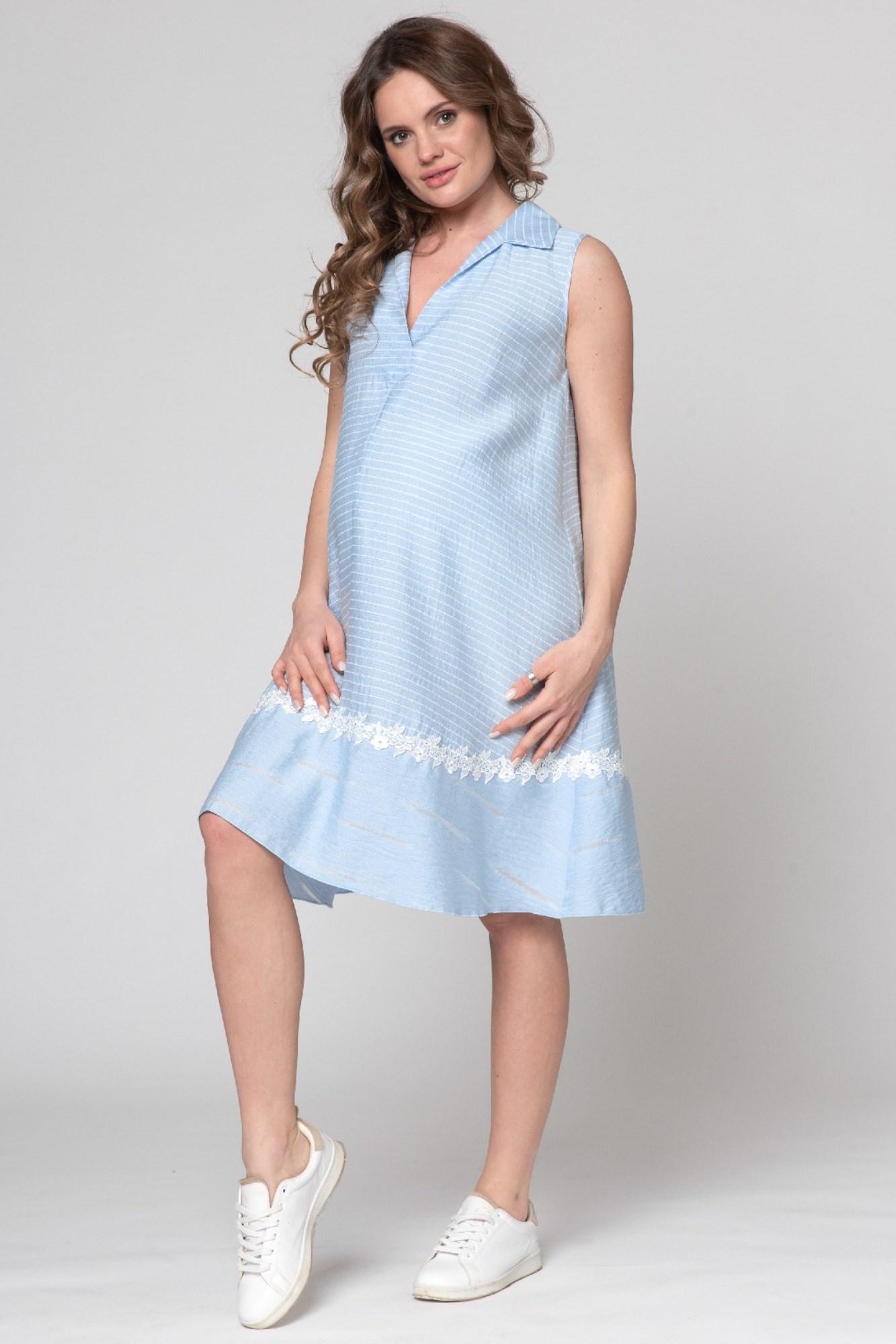 Платье для беременных 09586 голубой