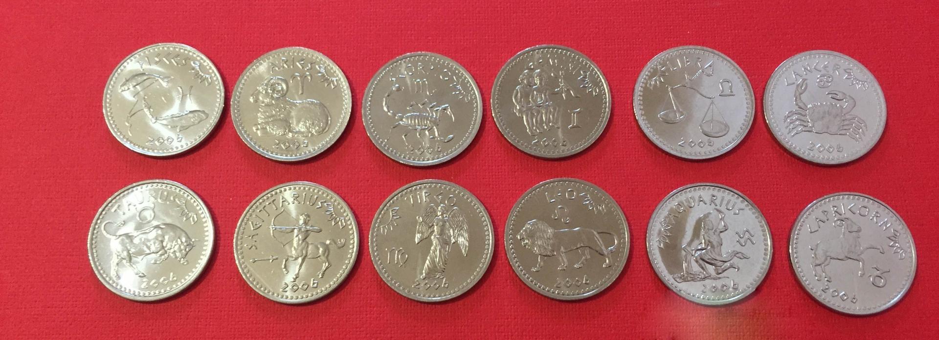 """10 шиллингов  """"Зодиаки"""" 2006 год"""