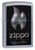 Зажигалка ZIPPO Flame Street Chrome (28445)