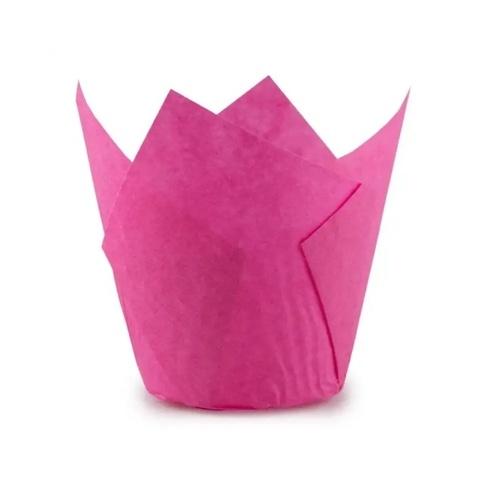 Форма бумажная Тюльпан Розовая, 50х80мм. (20шт)
