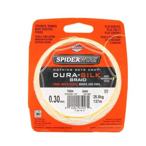 Плетеная леска Spiderwire Dura-Silk Yellow 137м, 0,30мм, 25,8кг