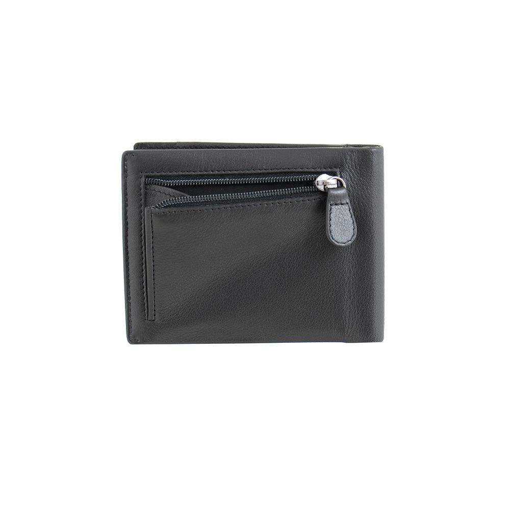 B123313R Preto - Зажим для купюр с монетником и RFID защитой MP