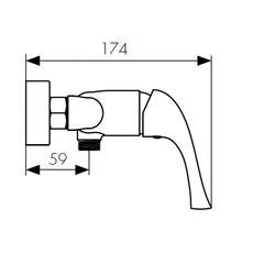 Смеситель KAISER Comba 48077 для душа схема