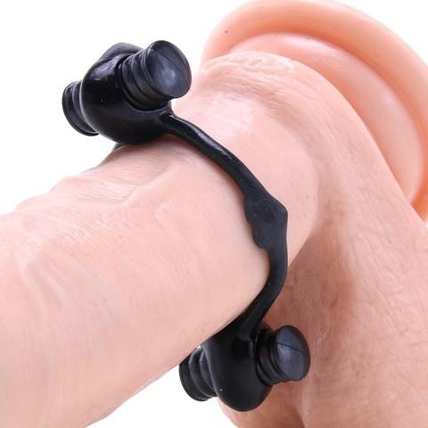 Эрекционное кольцо с двумя вибраторами TLC® All Nighter Dual Wireless Cock Ring