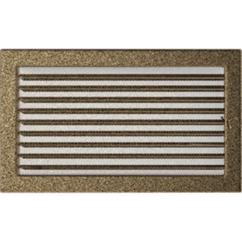 Вентиляционная решетка Черная/Золото с задвижкой (22*37) 22/37CZX