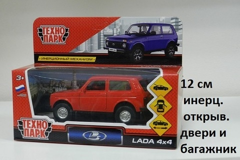 Машина мет. LADA4X4-RD Лада 4х4 Красный Технопарк