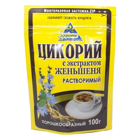 Напиток цикорий ЗДОРОВЬЕ Женьшень 100 гр ДП РОССИЯ